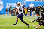 Washington Huskies fullback Myles Gaskin (9) in action during the Zaxby's Heart of Dallas Bowl game between the Washington Huskies and the Southern Miss Golden Eagles at the Cotton Bowl Stadium in Dallas, Texas. Washington defeats Southern Miss 44 to 31.