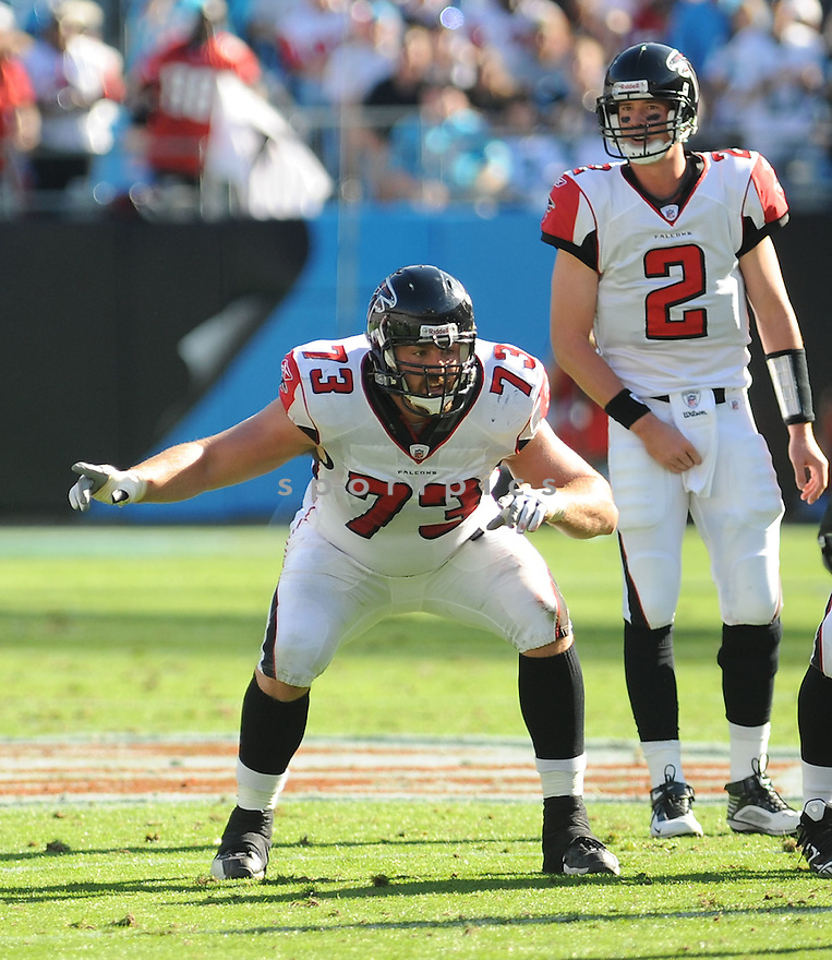 HARVEY DAHL, of the Atlanta Falcons, in action during the Falcons game against the Carolina Panthers on November 15, 2009 in Charlotte, NC. Panthers won 28-19