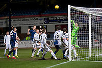 3rd March 2020; Dens Park, Dundee, Scotland; Scottish Championship Football, Dundee FC versus Alloa Athletic; Goalie Neil Parry of Alloa Athletic pulls off an injury time save to deny Christophe Berra of Dundee