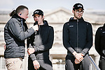 Team Sky at the team presentations in Compiegne before Paris-Roubaix 2019, Compiegne, France. 13th April 2019<br /> Picture: ASO/Pauline Ballet | Cyclefile<br /> All photos usage must carry mandatory copyright credit (© Cyclefile | ASO/Pauline Ballet)