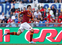 Calcio, finale di Coppa Italia: Roma vs Lazio. Roma, stadio Olimpico, 26 maggio 2013..AS Roma midfielder Marquinho, of Brazil, eyes the ball during the Italian Cup football final match between AS Roma and Lazio at Rome's Olympic stadium, 26 May 2013..UPDATE IMAGES PRESS/Isabella Bonotto....