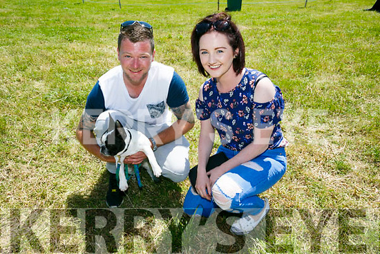 Enjoying Kilflynn Vintage Rally Day on Sunday were Danny Costello and Denise Quigley with frankie