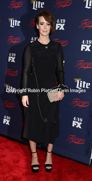 Sarah Paulson attends FX's 2017 All-Star Upfront on  April 6, 2017 at SVA Theater in New York, New York, USA. <br /> <br /> photo by Robin Platzer/Twin Images<br />  <br /> phone number 212-935-0770