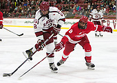 Tyler Moy (Harvard - 2), Yanni Kaldis (Cornell - 8) - The Harvard University Crimson defeated the visiting Cornell University Big Red on Saturday, November 5, 2016, at the Bright-Landry Hockey Center in Boston, Massachusetts.