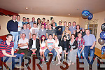 HURLER: Kerry & Crotta Hurler from Waterfall Kilflynn, Shane Nolan who celebrated his 21st in Parkers Bar, Kilflynn on Saturday night with his family and fellow hurlers from Kerry and Crotta Hurling Club, (Shane is seated 5th from right). ....