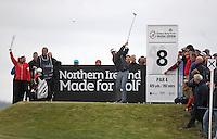 27 May 2015; Darren Clarke tees off at the 8th<br /> <br /> Dubai Duty Free Irish Open Golf Championship 2015, Pro-Am. Royal County Down Golf Club, Co. Down. Picture credit: John Dickson / DICKSONDIGITAL