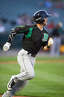 Dayton Dragons designated hitter Shane Mardirosian (13) during a game against the Peoria Chiefs on May 6, 2016 at Dozer Park in Peoria, Illinois.  Peoria defeated Dayton 5-0.  (Mike Janes/Four Seam Images)