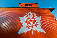 Canadian National Railway 1920s Caboose 76904 at the CN Fort Langley Station, Fort Langley B.C.