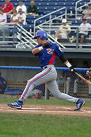 August 16, 2003:  Franklin Jimenez of the Vermont Expos during a game at Dwyer Stadium in Batavia, New York.  Photo by:  Mike Janes/Four Seam Images