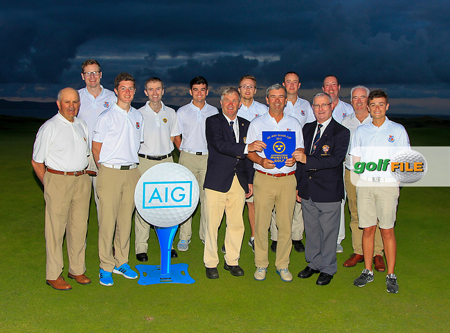 Limerick winners of the Munster Final of the AIG Senior Cup at Tralee Golf Club, Tralee, Co Kerry. 12/08/2017<br /> <br /> Picture: Golffile | Thos Caffrey<br /> <br /> All photo usage must carry mandatory copyright credit     (&copy; Golffile | Thos Caffrey)