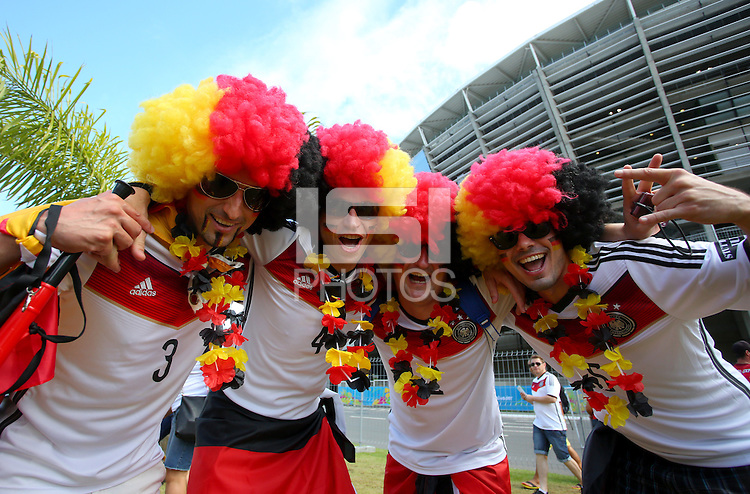 Germany supporters outside the Arena Fonte Nova, Salvador ahead of kick off against Portgual