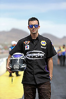 Apr. 6, 2013; Las Vegas, NV, USA: NHRA pro stock driver Vincent Nobile poses for a portrait during qualifying for the Summitracing.com Nationals at the Strip at Las Vegas Motor Speedway. Mandatory Credit: Mark J. Rebilas-