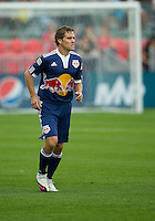 August 21 2010 New York Red Bulls defender Chris Albright #3 in action during a game between the New York Red Bulls and Toronto FC at BMO Field in Toronto..The New York Red Bulls won 4-1