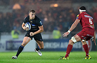 Jack Walker of Bath Rugby in possession. European Rugby Champions Cup match, between the Scarlets and Bath Rugby on October 20, 2017 at Parc y Scarlets in Llanelli, Wales. Photo by: Patrick Khachfe / Onside Images