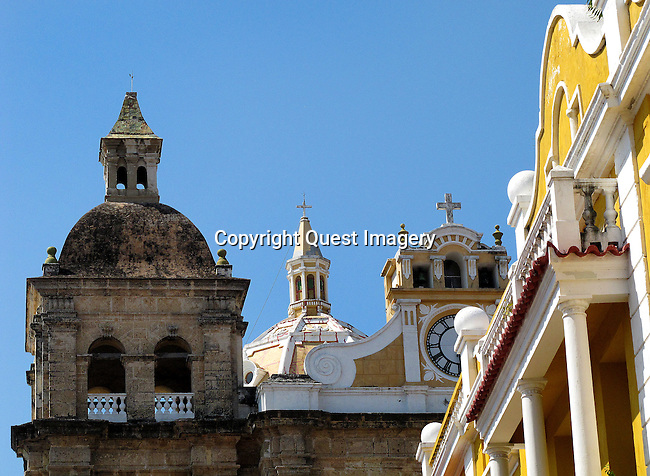 Cartagena is one of the oldest cities in the Western Hemisphere, founded by the Spanish in 1533, and named after Cartagena, Spain. On the northern coast of Colombia, with a deep water bay, it served a key role in the development of the region during the Spanish eras; it was a center of political and economic activity due to the presence of royalty and wealthy viceroys. Cartagena is the city most associated with pirates in the Caribbean, and the world. In 1984 Cartagena's colonial walled city and fortress were designated a UNESCO World Heritage Site.<br />