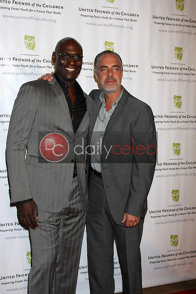 Lance Reddick, Titus Welliver at the United Friends of the Children Brass Ring Awards Dinner, Beverly Hilton Hotel, Beverly Hills, CA 06-02-15<br /> David Edwards/DailyCeleb.com 818-249-4998