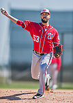 25 February 2016: Washington Nationals pitcher Rafael Martin throws during the first full squad Spring Training workout at Space Coast Stadium in Viera, Florida. Mandatory Credit: Ed Wolfstein Photo *** RAW (NEF) Image File Available ***