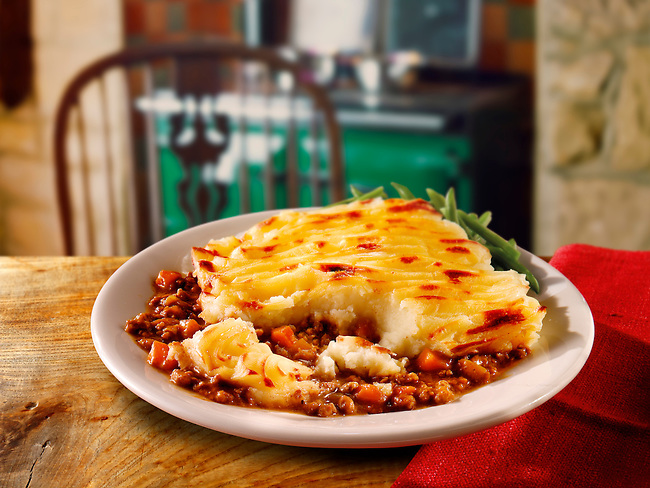 Britsh Food - Cottage Pie meal