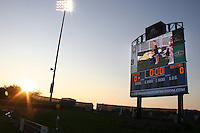 Scoreboard of the Washington Freedom at sunset during a WPS match against the Chicago Red Stars at Maryland Soccerplex on August 19 2010, in Boyds, Maryland. Freedom won 2-0.