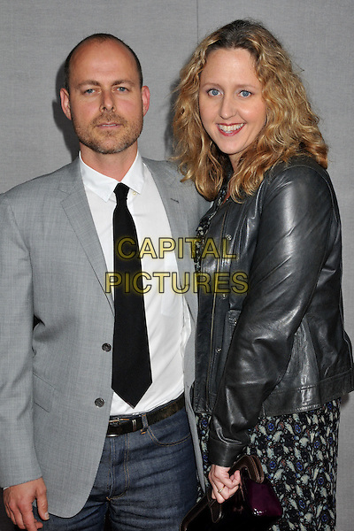 "GUEST & BROOKE SMITH.""True Blood"" 2nd Season Premiere held at Paramount Studios, Los Angeles, CA, USA..June 9th, 2009.half length grey gray suit jacket black tie leather .CAP/ADM/BP.©Byron Purvis/AdMedia/Capital Pictures."