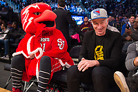 NEW YORK, NY - Thursday March 9, 2017: Tennis legend John McEnroe watches as St. John's takes on Villanova in the Quarterfinals of the Big East Tournament at Madison Square Garden.