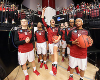 STANFORD, CA - March 21, 2015: Stanford Cardinal vs the CSUN Matadors in a first round game of the NCAA tournament Maples Pavilion.  Stanford defeated the Matadors 73-60.