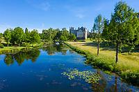 France, Maine-et-Loire (49), Brissac-Quincé, château de Brissac, et ruisseau de Montayer