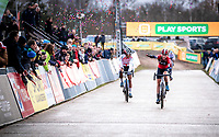 Annemarie Worst (NED/777) takes the win in the CX Superprestige Zonhoven (BEL) 2019<br /> women's race