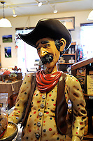 Paniolo (Hawaiian cowboy) shop mannequin. Waimea (also called Kamuela), Big Island, Hawaii