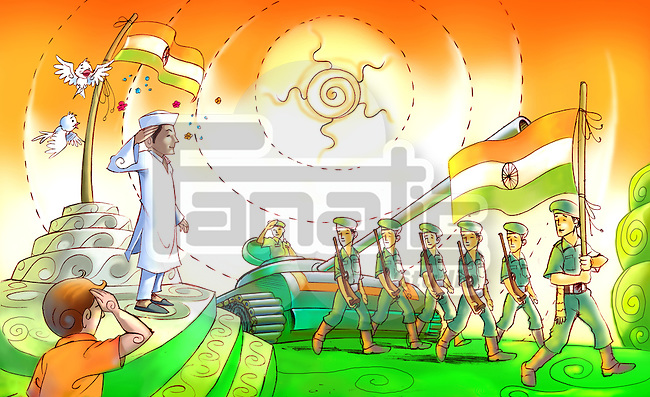 Republic day celebration, India
