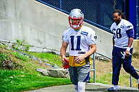 June 7, 2017: New England Patriots wide receiver Julian Edelman (11) walks to practice at the New England Patriots mini camp held on the practice field at Gillette Stadium, in Foxborough, Massachusetts. Eric Canha/CSM