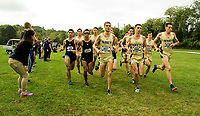 10/14/17: The U.S. Naval Academy midshipmen men's cross country team race head-to-head with the Army Black Knights,Saturday morning October 14, 2017, at the 80th Star Meet in Bowdin Park in Wappingers Falls, N.Y.  Photo by: PatrickSchneiderPhoto.com<br /> <br /> Charlotte Photographer - PatrickSchneiderPhoto.com