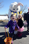 Wall Township held their annual Easter Egg Hunt and Pankcake Breakfest at the Wall Township Municipal Building on Saturday March 24, 2018. Children react to meeting the Easter Bunny.<br /> (MARK R. SULLIVAN /THE COAST STAR)