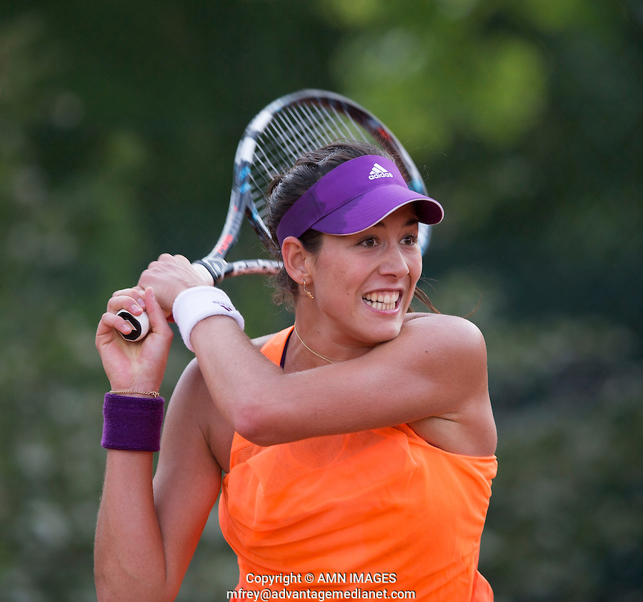 GARBINE MUGURUZA (ESP)<br /> <br /> Tennis - French Open 2014 -  Toland Garros - Paris -  ATP-WTA - ITF - 2014  - France -  25 May 2014. <br /> <br /> &copy; AMN IMAGES