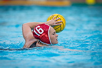 Stanford, CA - March 8, 2020: Hannah Constandse at Avery Aquatic Center. The No. 2 Stanford Women's Water Polo team beat the No. 6 Arizona State Sun Devils 9-8.