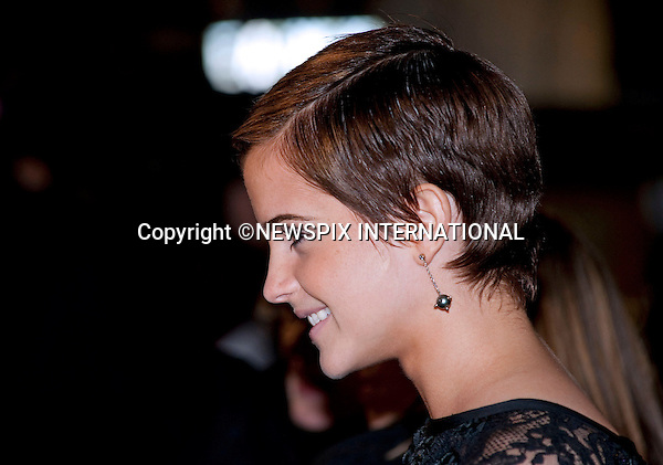 "EMMA WATSON.HARRY POTTER AND THE DEATHLY HALLOWS PART 1 _ .Stars from the seventh film in the series gathered for the World Premiere at .the Odeon Leicester Square, London_England_11/10/2010..Mandatory Photo Credit: ©Dias/Newspix International..**ALL FEES PAYABLE TO: ""NEWSPIX INTERNATIONAL""**..PHOTO CREDIT MANDATORY!!: NEWSPIX INTERNATIONAL(Failure to credit will incur a surcharge of 100% of reproduction fees)..IMMEDIATE CONFIRMATION OF USAGE REQUIRED:.Newspix International, 31 Chinnery Hill, Bishop's Stortford, ENGLAND CM23 3PS.Tel:+441279 324672  ; Fax: +441279656877.Mobile:  0777568 1153.e-mail: info@newspixinternational.co.uk"