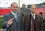 28 April 2007: MLS Commissioner Don Garber (l) and Deputy Commissioner Ivan Gazidis (r). Major League Soccer expansion team Toronto FC lost 1-0 to the Kansas City Wizards in the inaugural game at BMO Field in Toronto, Ontario, Canada, the first MLS game played outside of the United States.