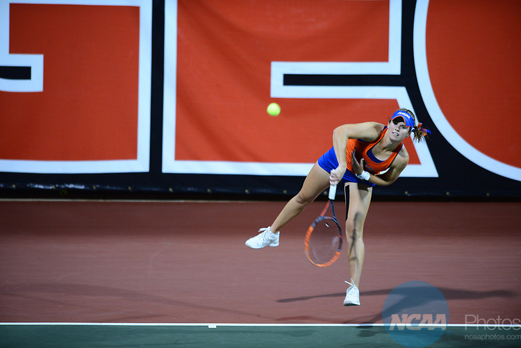 ATHENS, GA - MAY 23: Belinda Woodcock of the University of Florida during the Division I Women's Tennis Championship held at the Dan Magill Tennis Complex on the University of Georgia campus on May 23, 2017 in Athens, Georgia. (Photo by Steve Nowland/NCAA Photos via Getty Images)