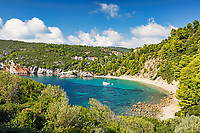 The beach Stafylos of Skopelos island, Greece