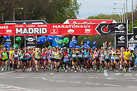 Start of 2013 Madrid Marathon