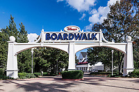 Entrance to Disney's Boardwalk resort, Orlando, Florida, USA.