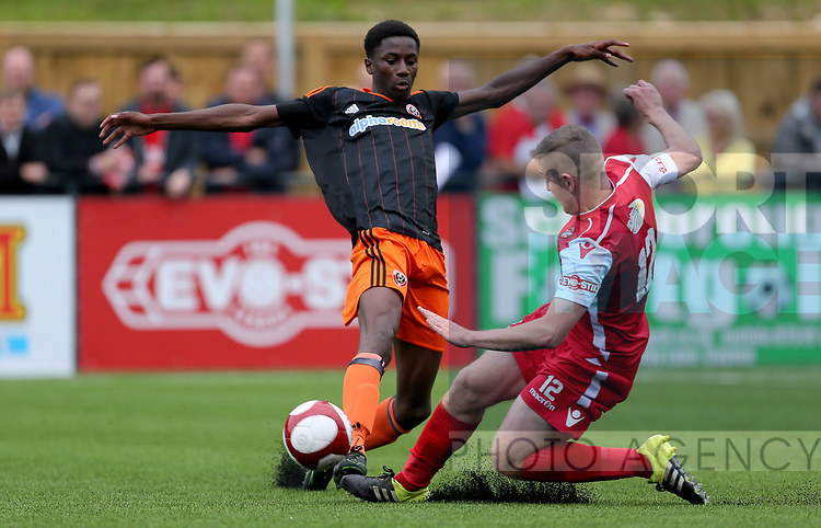 Jean Belehouan of Sheffield Utd during the pre season match at the Flamingo Land Stadium, Scarborough. Picture date 15th July 2017. Picture credit should read: Richard Sellers/Sportimageduring the pre season match at the Flamingo Land Stadium, Scarborough. Picture date 15th July 2017. Picture credit should read: Richard Sellers/Sportimage