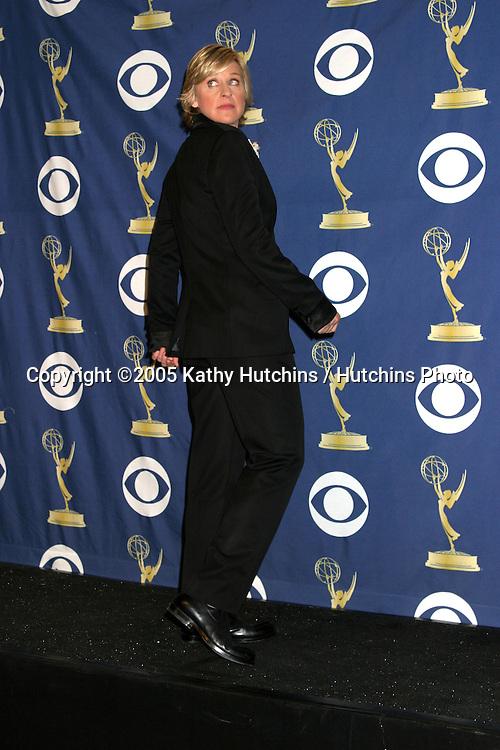 Ellen DeGeneres.2005 Primetime Emmy Awards.Shrine Auditorium.September 18, 2005.©2005 Kathy Hutchins / Hutchins Photo....