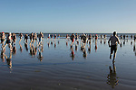 during the St. Stephen's Day 2013 swim for Chernobyl on Clogherhead beach.<br /> Picture:  Thos Caffrey / www.newsfile.ie