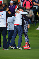Nelly Korda (USA) wins on the 18th green during Day 3 Singles at the Solheim Cup 2019, Gleneagles Golf CLub, Auchterarder, Perthshire, Scotland. 15/09/2019.<br /> Picture Thos Caffrey / Golffile.ie<br /> <br /> All photo usage must carry mandatory copyright credit (© Golffile | Thos Caffrey)