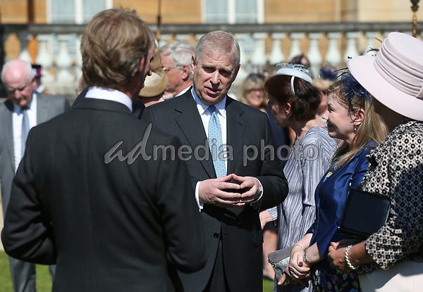 25 May 2017 - Prince Andrew Duke of York during the Royal Society for the Prevention of Accidents (RoSPA) Centenary Garden Party at Buckingham Palace, London. Photo Credit: ALPR/AdMedia