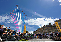 Cycling: 101th Tour de France / Stage 1 <br /> Illustration Illustratie / Peleton Peloton / Domaine De Harewood House / Aircraft show Plane Avion Vliegtuig / Landscape Paysage Landschap / <br /> Leeds - Harrogate (190,5Km)/ <br /> Ronde van Frankrijk TDF Etape Rit (c) Tim De Waele COPYRIGHT WARNING : THIS IMAGE IS RIGHTS MANAGED AND THE COPYRIGHT MAY SIT WITH A THIRD PARTY PLEASE CONTACT simon@swpix.com BEFORE DOWNLOAD AND OR USE