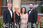 Pictured at the Rose Ball at the Dome on Friday night were  Michael Doorly, Rita Doorly, Louise Rock, David Rock