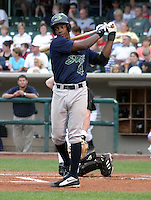 August 30, 2003:  Rickie Weeks of the Beloit Snappers, Class-A affiliate of the Milwaukee Brewers, during a Midwest League game at Fifth Third Field in Dayton, OH.  Photo by:  Mike Janes/Four Seam Images