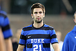12 October 2012: Duke's Nick Prys. The University of Maryland Terrapins defeated the Duke University Blue Devils 2-1 at Koskinen Stadium in Durham, North Carolina in a 2012 NCAA Division I Men's Soccer game.